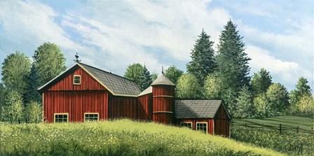Red Barn Summer 2 by Debbi Wetzel art print