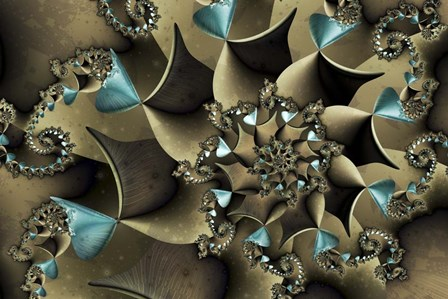 Turquoised Bronze by Fractalicious art print