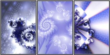 Trilogy by Fractalicious art print