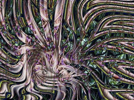 Deep Sea Molusk by Fractalicious art print