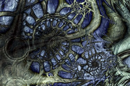 Sonic Indigo by Fractalicious art print