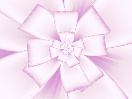 Pretty Pink Bow V by Fractalicious art print