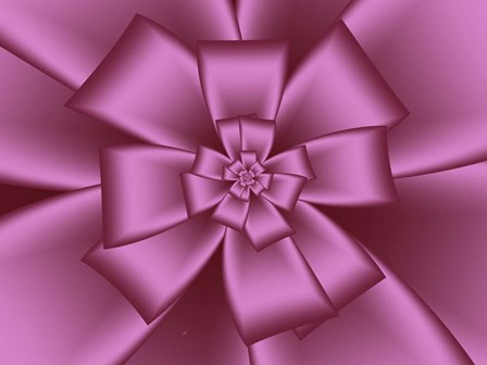 Pretty Pink Bow VII by Fractalicious art print
