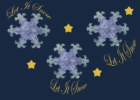 Let It Snow by Fractalicious art print