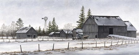 Amish Winter by John Morrow art print
