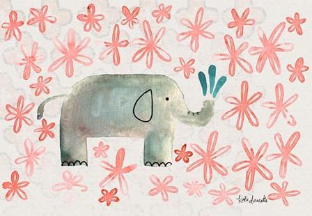 Floral Elephant by Katie Doucette art print