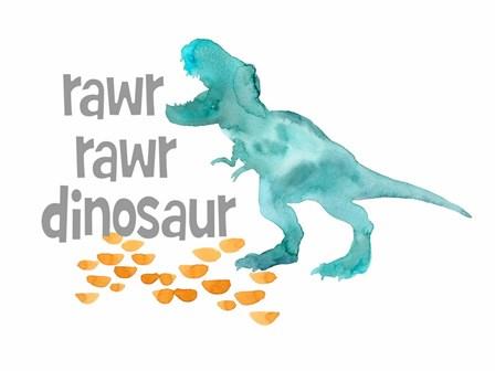 Rawr Rawr Dinosaur by Elise Engh art print